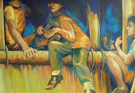Ninos De La Tierra Painting By Clara Gonzalez