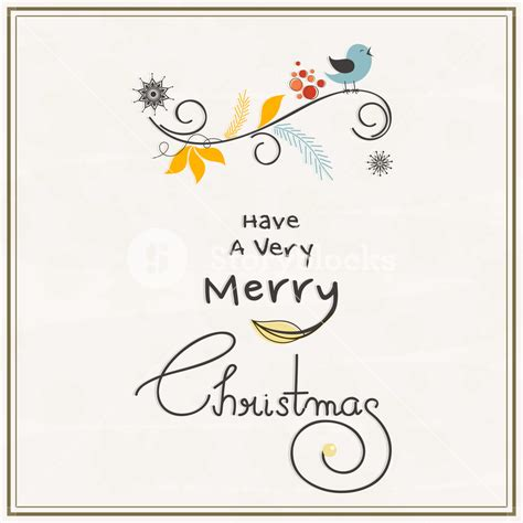 merry christmas celebrations greeting card design with singing love bird and wishing text