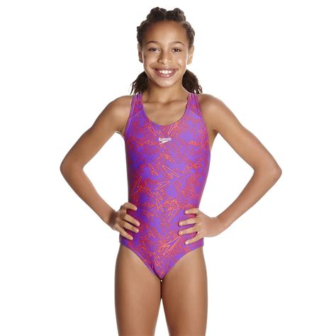 speedo boom allover splashback girls swimsuit aw