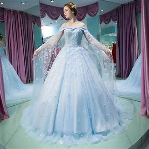 vestido noiva vintage light blue wedding gown robe de With plus size blue wedding dresses