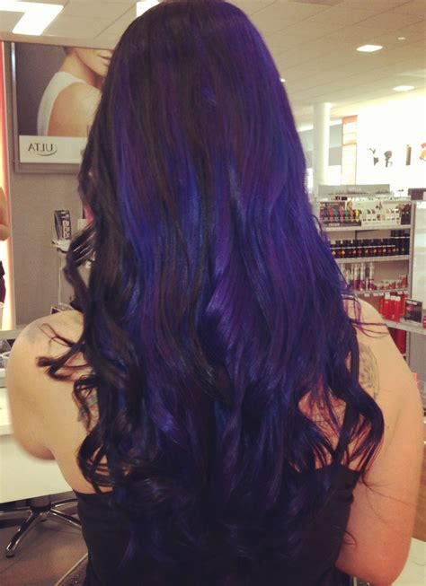 Blue Black And Blue Violet Hair Because I Do Hair