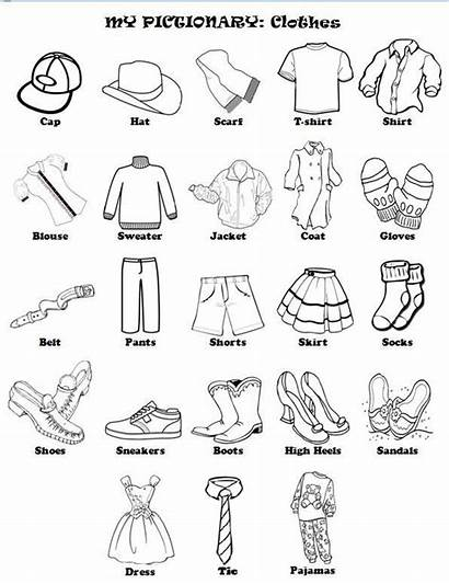 Clothes English Worksheets Vetements Learning French Les
