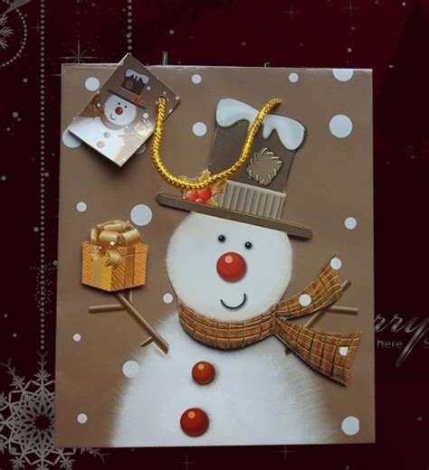 christmas brown paper bags crafts