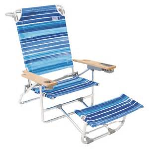 big kahuna beach chair w footrest sea blue stripe
