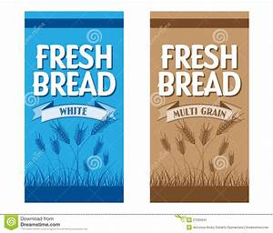 bread packaging stock image image 27025641 With bread packaging design template