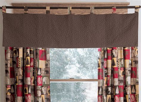 Lodge Patchwork Quilted Brown Valance   OVERSTOCK