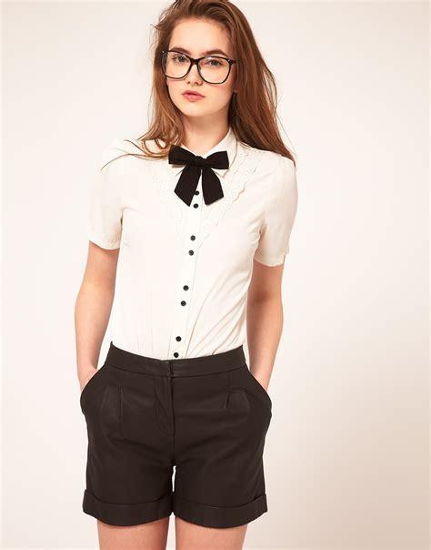 bow neck blouse bow tie neck blouse 39 s lace blouses