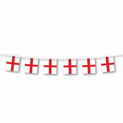 Flag England Bunting Georges George Fabric 5m