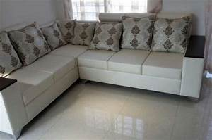 cream coloured corner sofa set in royal design pune zamroo With furniture for home in pune
