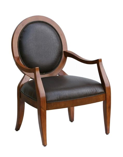 hamlin transitional carved accent chair with oval back