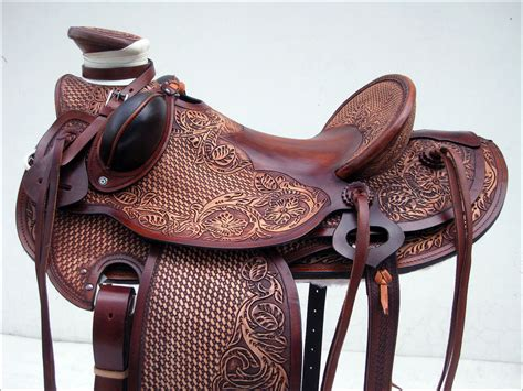 Western Big King Series Wade Ranch Roping Cowboy Saddle By