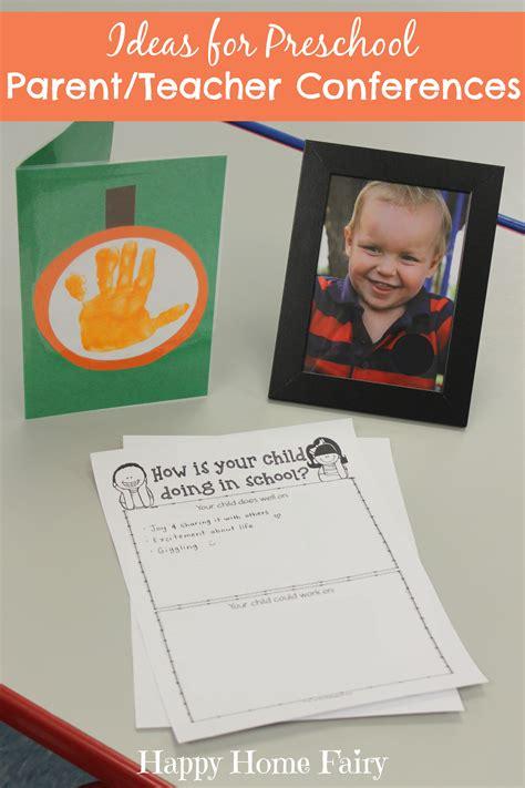 ideas for preschool parent conferences happy 750 | Ideas for Preschool Parent and Teacher Conferences