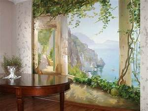 20 wall murals changing modern interior design with for Wall mural designs ideas