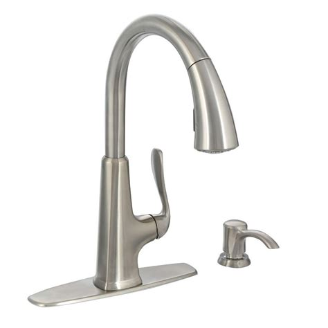 stainless steel pull out kitchen faucet pfister pasadena single handle pull sprayer kitchen