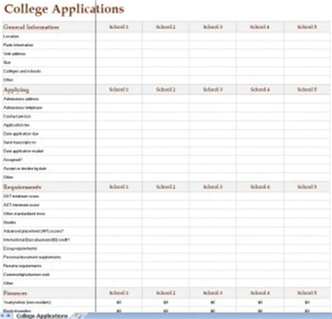 college search worksheet resultinfos