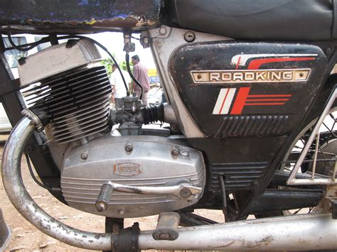 Yezdi Roadking 2 Two Stroke Engine Closeup. Two