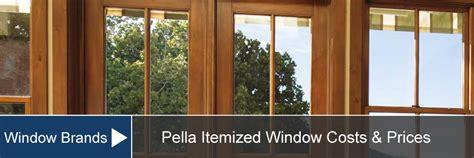 pella window prices costs supply installation