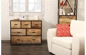 Commode Style Industriel : commode miliboo commode industrielle industria bois massif ventes pas ~ Teatrodelosmanantiales.com Idées de Décoration