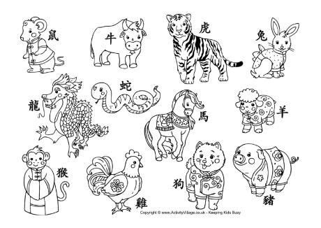 chinese  year activities chinese zodiac animals