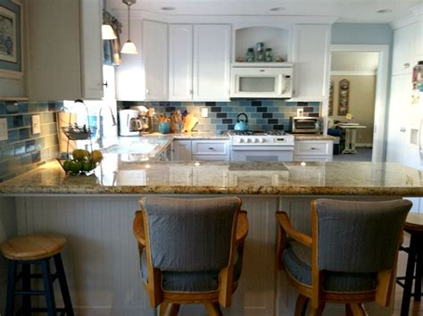 coastal inspired kitchens s inspired kitchen blue tile hooked on houses 2271