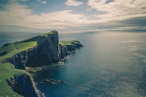 images landscape sea coast grass ocean horizon
