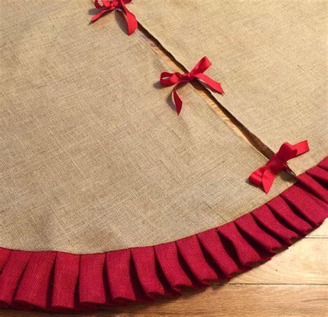 63 ruffled burlap christmas tree skirt