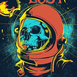 Astronaut Skull Vector (page 4) - Pics about space