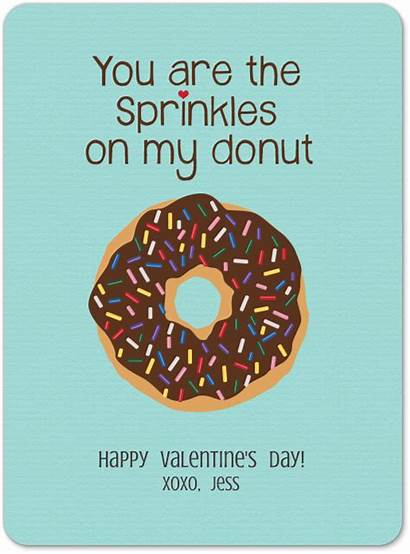Donut Sprinkles Valentine Sweet Quotes Donuts Card