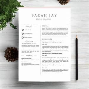 Readymade Resume Professional Resume Template Clean Sleek Minimal
