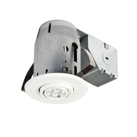 c clips for recessed lighting globe electric 3 in white led ic rated swivel spotlight