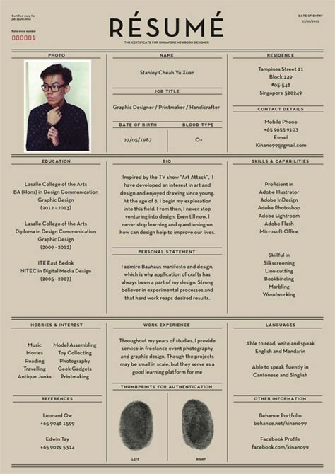 Cool Resumes by 25 Creative And Simple Resume Exles