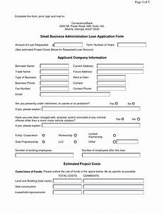 business loan application form free printable documents With business loan documents