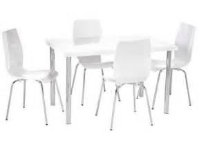 table et chaise de cuisine blanche