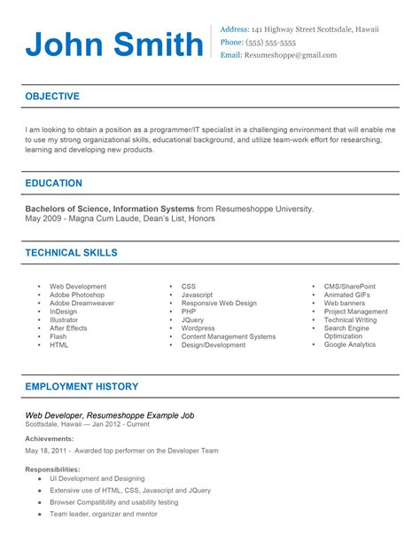 Effective Resume Sles by The Resume 2 Simple But Effective Resume