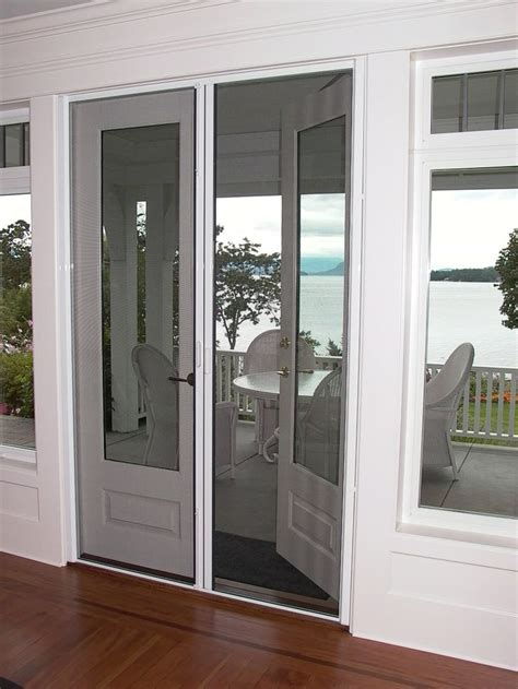 french doors  screens ideas  pinterest