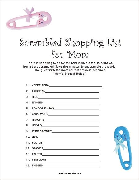 Mesmerizing Free Baby Shower Games Printable Worksheets For Couples 360 Degree Wedding