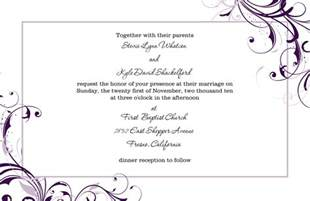 sle wedding invitation wedding invitation mail format for wedding