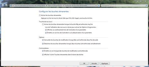 raccourci bureau windows 8 désactiver le raccourci clavier des touches rémanentes