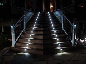 Illuminating interior exterior stairs i lighting llc for Outdoor stair lighting