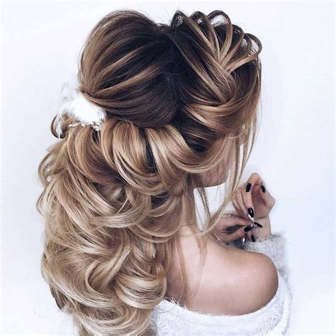 wedding hairstyles half up half down for short and long