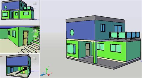 simple house  dwg model  autocad designs cad