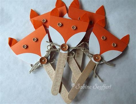 fox themed party invitations fun crafts kids