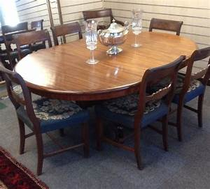 Antique, Mahogany, Extending, Pull, Out, Dining, Table, On, Turned, Quadrapartite, Base, With, Single, Leaf