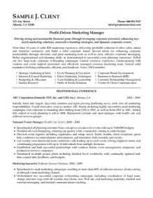 marketing resume format doc doc 691833 marketing manager resume free resume sles bizdoska