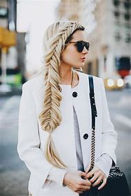 Blonde Hair with Fishtail Braid
