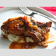 Ciderbraised Countrystyle Pork Ribs With Creamy Mashed