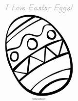 Coloring Easter Eggs Egg Print Ll sketch template