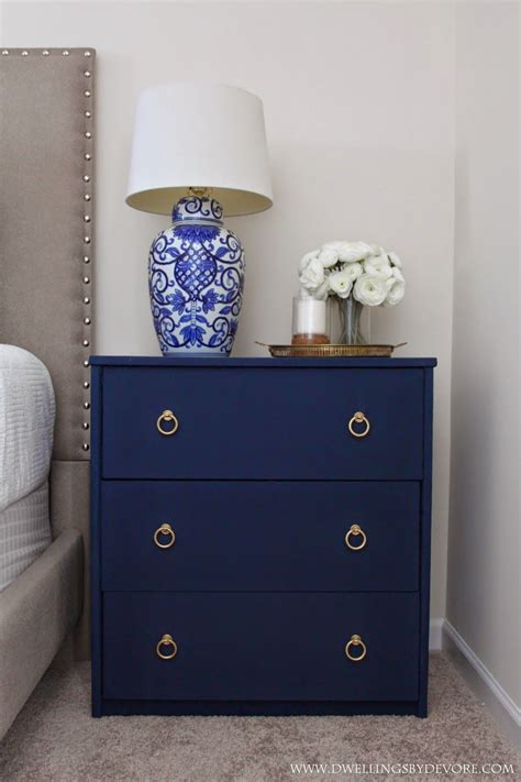 Nightstand Gleaming Navy Blue Nightstand Decor Blue. White Chandeliers. Upholstered Vanity Stool. Modern Office Chairs. Carrara Porcelain Tile. Basement Design. Vanity Lighting. Best Flooring For Kitchen. Winds Breath Benjamin Moore
