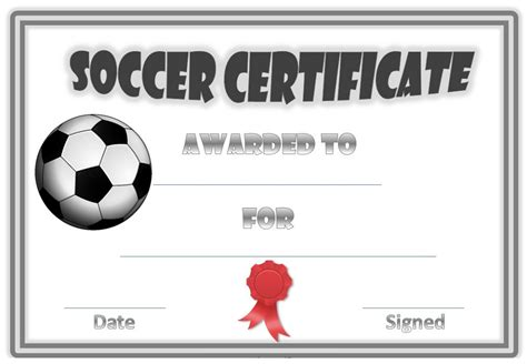 soccer award certificates activity shelter