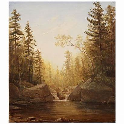 Mountain Oil Landscape Nh Painting Pool Emerald
